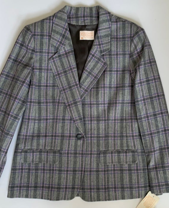 Pendleton Purple Wool Blazer