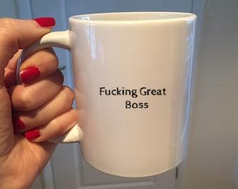 Best Fucking Boss MugFunny GiftBoss Birthday Gift BoyfriendGift GoodbyeBoss Wedding GiftGift For Himgift Female