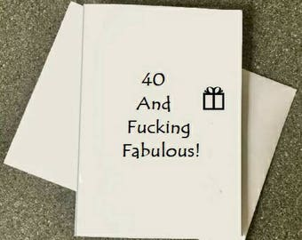 40th Birthday Card401978 CardFunny Cardforty Cardfortieth CardCard For WomenCard Friend