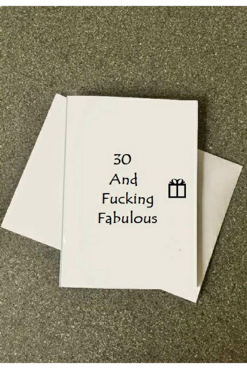 Funny 30th Birthday CardBest BirthdayCard For