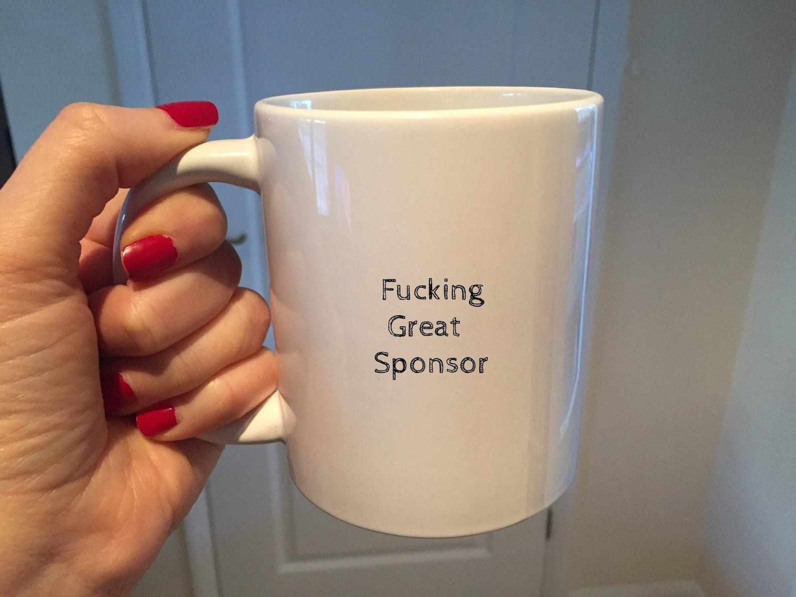 Sponsor Becher Dankeschön-Geschenk Kaffeetasse Alkohol | Etsy