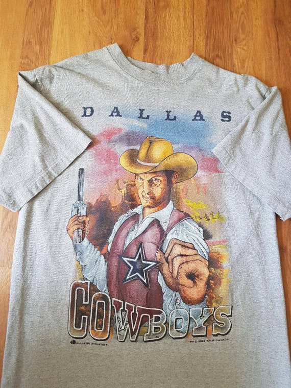 Vintage 90S Dallas Cowboys NFL Sheriff Football TSHIRT SZ M  1f6914611