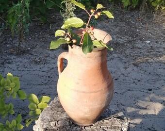 Primitive pot Pot for stove Traditional cooking pot Vintage cuisine Metal pot Unique pot Flower vase Vintage pot Primitive vase