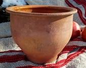 Antique pot, Small clay pot, Antique amphora, Clay pot for plants, Ancient vase, Low pot, Elegant pot, Mortar, Pottery, Unique decor, Decor
