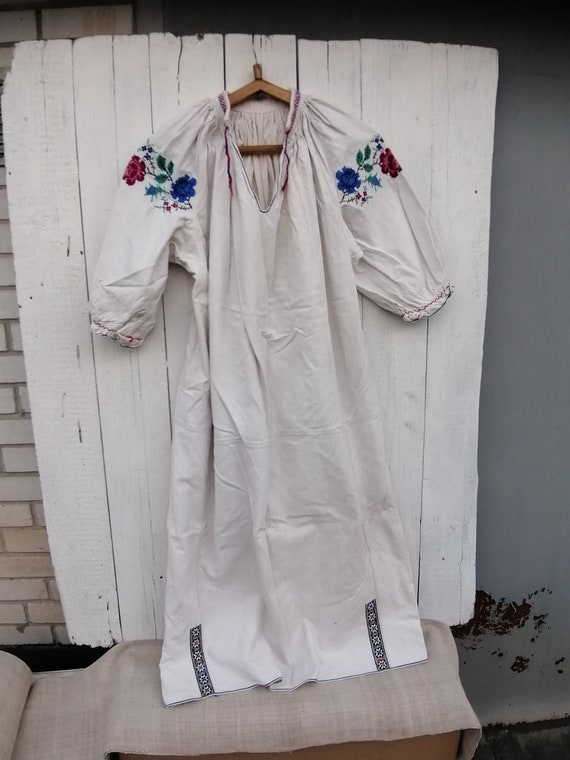 Vintage Ukrainian embroidered shirt, Embroidered s