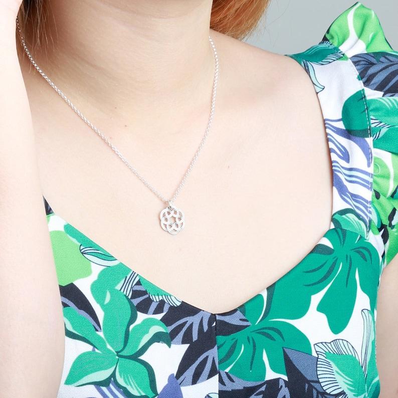 Dreamcatcher celtic s925 sterling silver necklace Valentine/'s Day gift