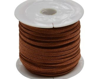Dark brown suede cord