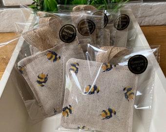 Bee Lavender bag pack of 3, lavender pillow, lavender bag. Lavender sachets