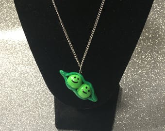 Handmade Two Peas in a Pod Necklace
