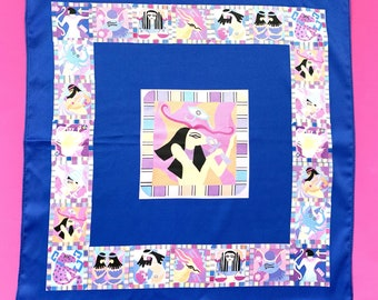Pocket Square, Capricorn, Accessories, Gifts for Capricorns, Zodiac Signs, Astrology Gifts, Egyptian Style, Artist Made