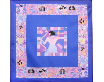Pocket Square, Sagittarius, Zodiac Design, Egyptian Style, Gifts for Sagittarius,  Artist Design, Astrology Gift Idea