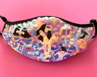 Face Masks, Adult and Child , Multi Print, SIZE M (Adult), Reusable, Washable Mask, Egyptian Style, Astrology, Elastic Fit, Artist Design