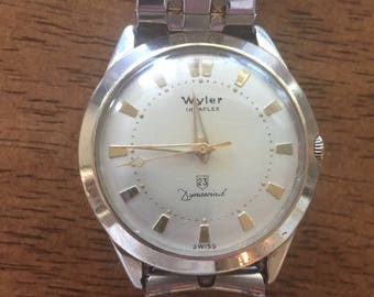 Wyler incaflex dynawind 10k gold filled  super23 (swiss)vintage Automatic  mens watch runs well c1960s
