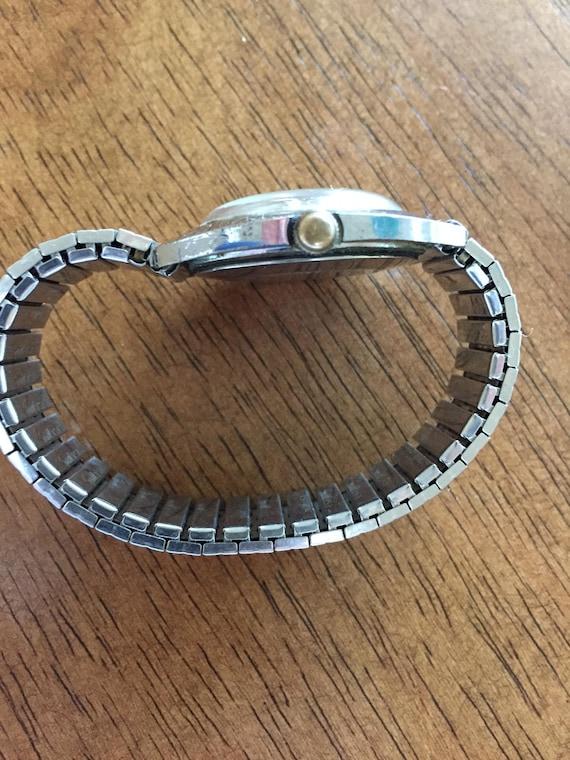 Vintage Timex 1973 Mechanische Wdatum Gut Zifferblatt Mm Kuppel Zeiger35 Erhabene Wind Läuft Schwarz Kristall Herren DurchmesserDie Uhr zGLSUVMpq