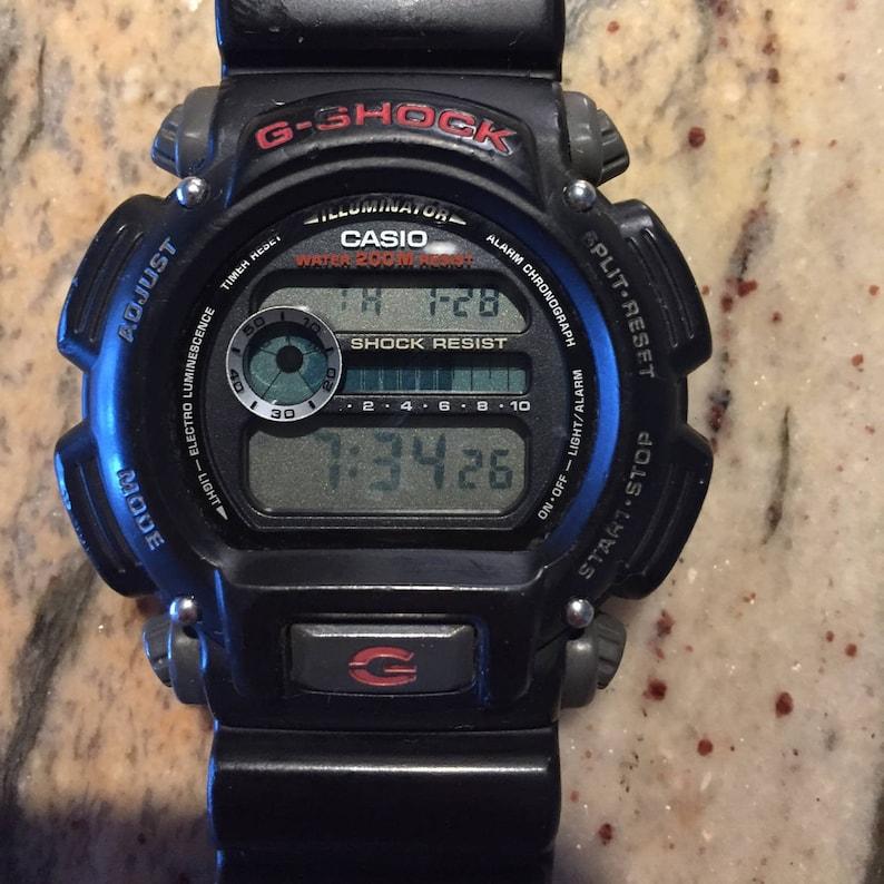 a72e41af68a Casio G-Shock vintage mens 3232 dw9052 black 20barw r alarm watch NEW  battery ... Casio G-Shock vintage mens 3232 dw9052 black 20barw r alarm  watch NEW ...