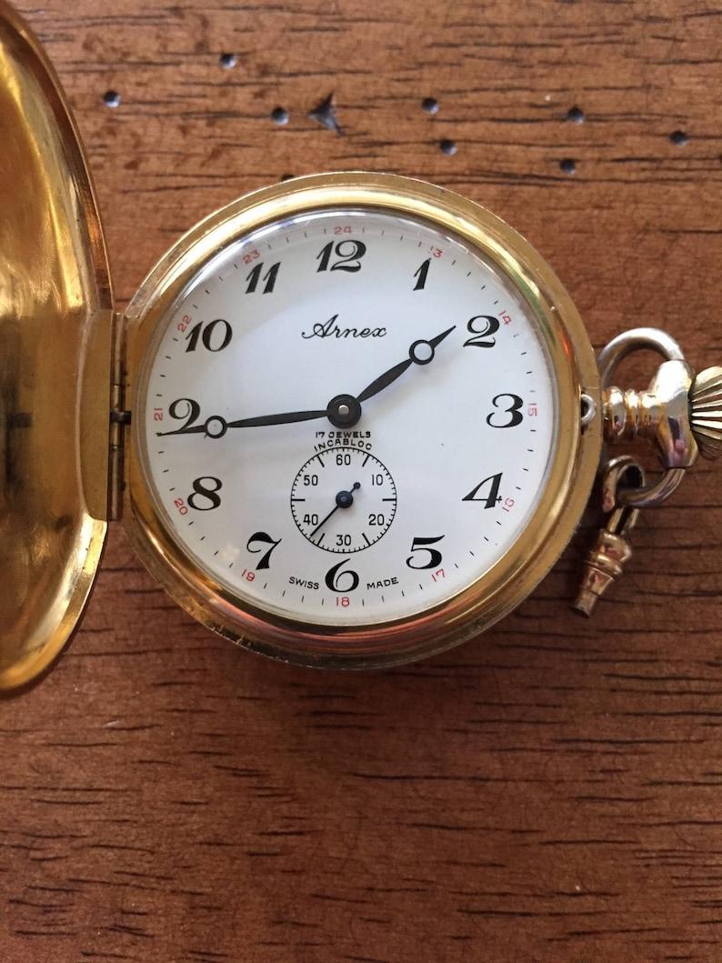 Antique Arnex 17 Jewels Pocket Watch Incabloc Antique
