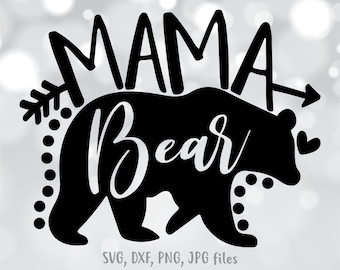 Mama Bear Svg Etsy