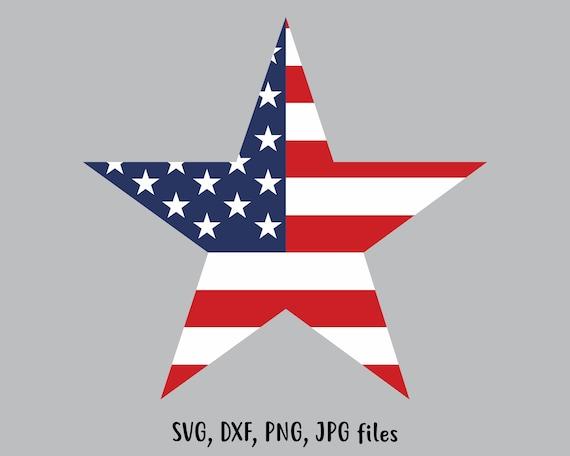 Usa Flag Star Svg Independence Day Svg Patriotic Cut File Etsy