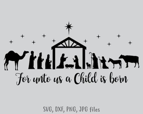 Nativity Svg Christmas Svg Christmas Cut File Christmas Etsy
