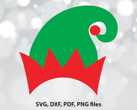 Elf Hat Svg File Elf Hat Dxf Elf Hat Cut File Elf Hat Clip Etsy