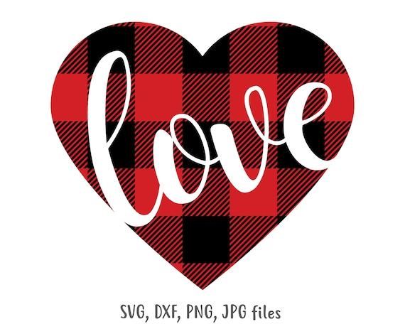 Download Love Heart svg Plaid Heart Valentine svg Valentines svg   Etsy