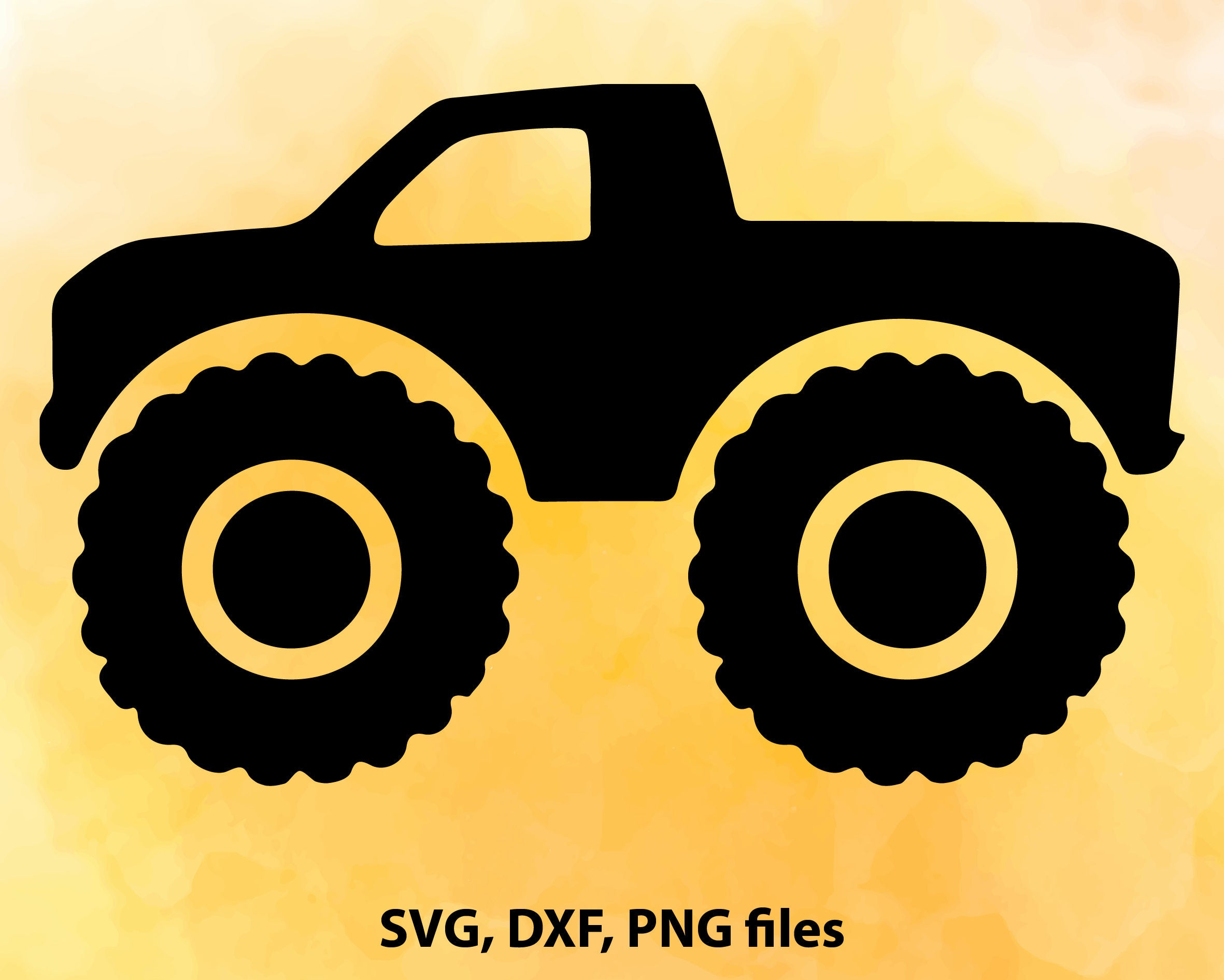 Monster Truck SVG File Cutting Template-Vector Clip Art for   Etsy