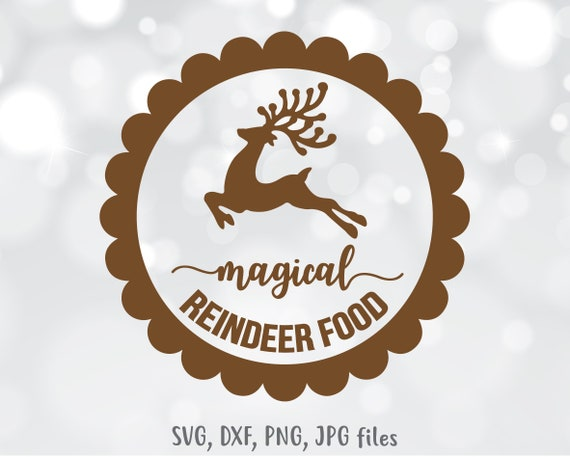 Reindeer Svg Christmas Svg Reindeer Food Svg Christmas Deer Etsy