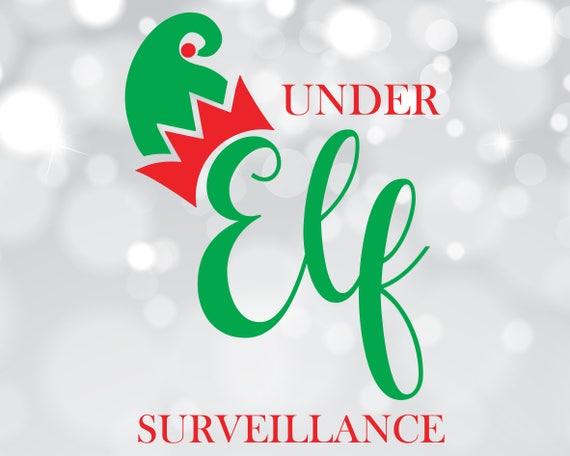 Elf Surveillance Svg Elf Cam Dxf Xmas Cut File Elf Clipart Etsy