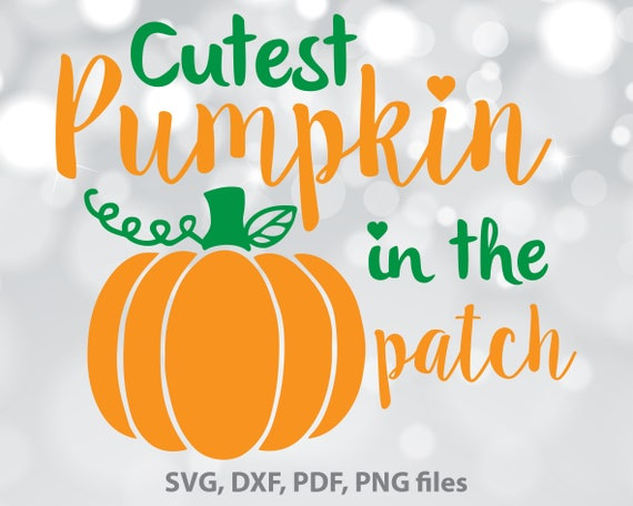 Get Cutest Pumpkin In The Patch / Svg Png Jpeg Dxf Crafter Files