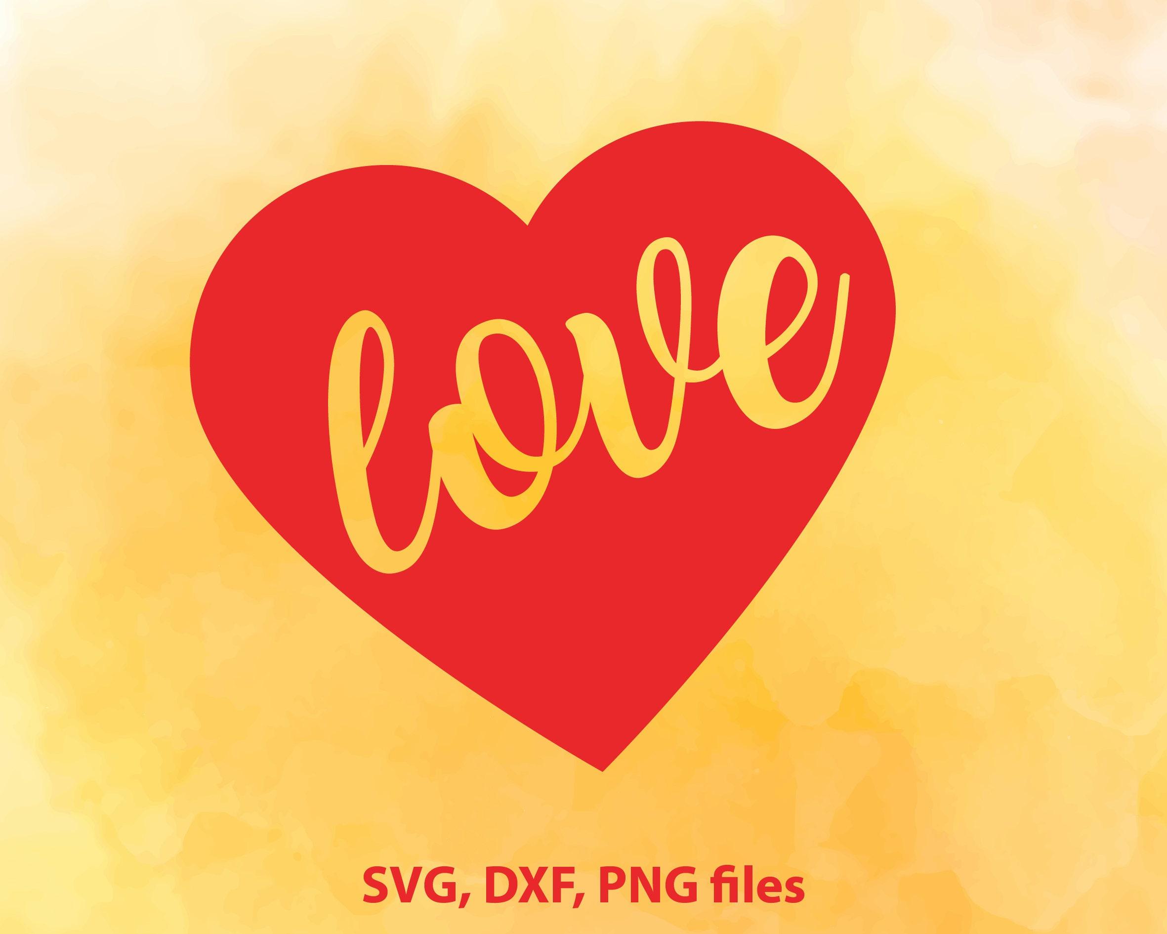Heart Svg File Heart Dxf Heart Cut File Heart Clip Art Etsy
