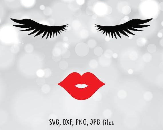 Eyelashes Svg Lips Svg Face Svg Cut File Vinyl Decal For Etsy