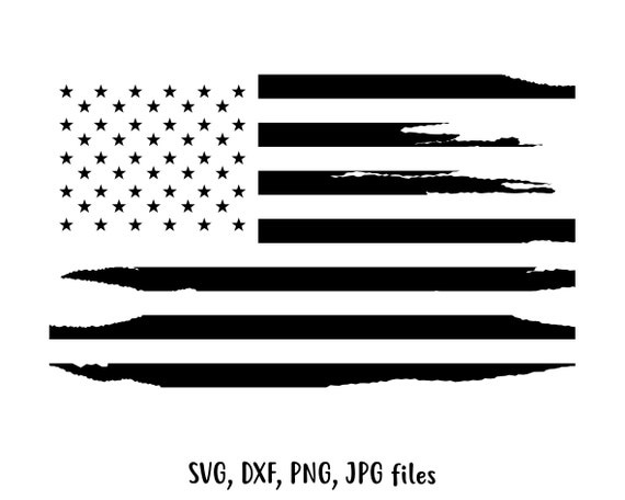 Dxf Silhouette Cut File Cricut Independence Day Svg 4th Of July Svg American Gigi Distressed American Flag Svg Jpg US Flag Svg Png
