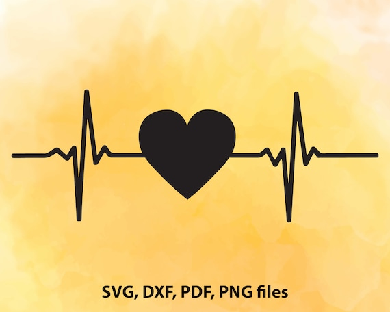 Heartbeat Svg File Heart Beat Dxf Heartbeat Cut File Heart Etsy