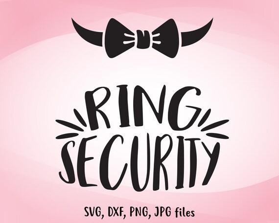 Ring Security Svg Wedding Svg Ring Bearer Svg Ring Boy Iron Etsy