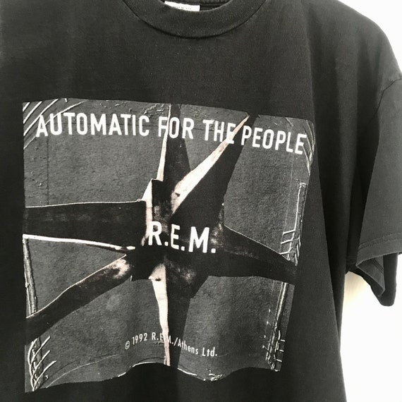 Vintage 1992 R.E.M. 2 Sided Print Tour Shirt 90's