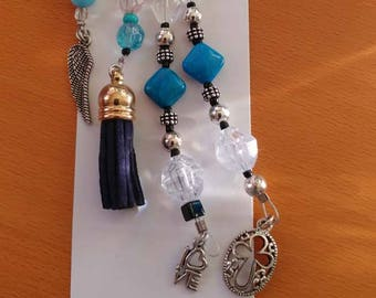 Blue faith tassel keychain