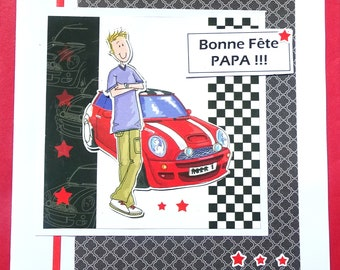 Card for a car enthusiast (3) father's day! Happy father's day!