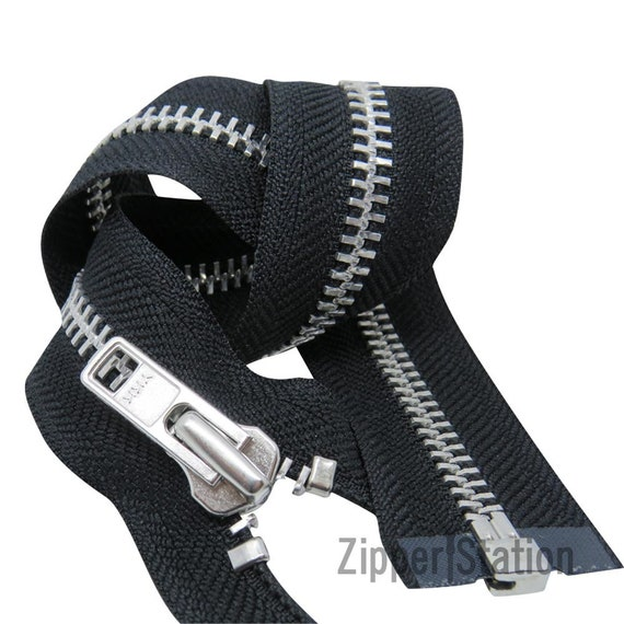 Best Quality Strong Medium Duty Zip N5 Open Ended Black Brass Colours Choices