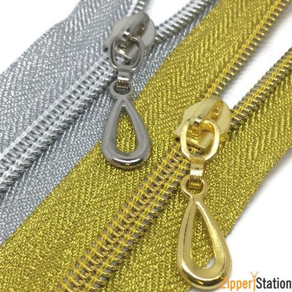 CONTINOUS ZIP pour sac faisant toute longueur /& couleur.