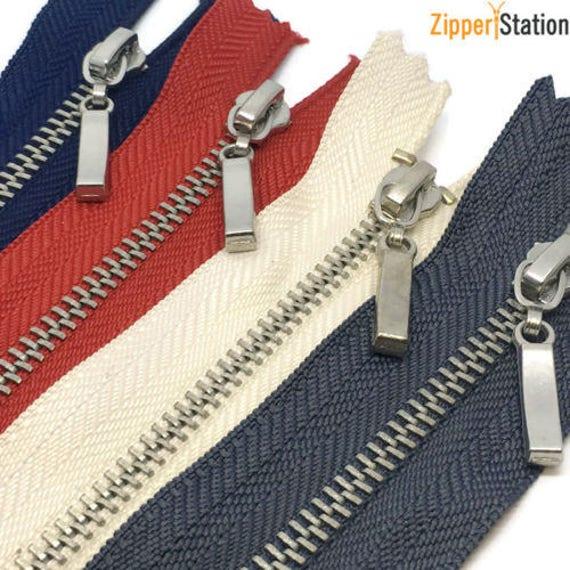 Closed End UK Seller YKK Black Metal Zipper Ball /& Chain Puller Zip
