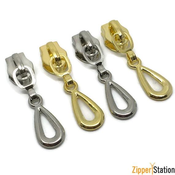 fastenings continuous #5 zips Tear Drop No 5 Non Lock Zip slides pulls