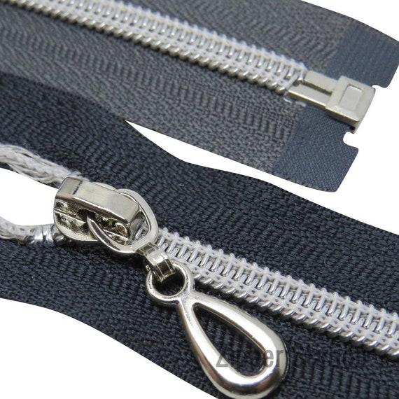 """Nº 5 poids Black Chunky Plastique Extrémité Ouverte Zip 30/""""//76 cm meilleure qualité"""