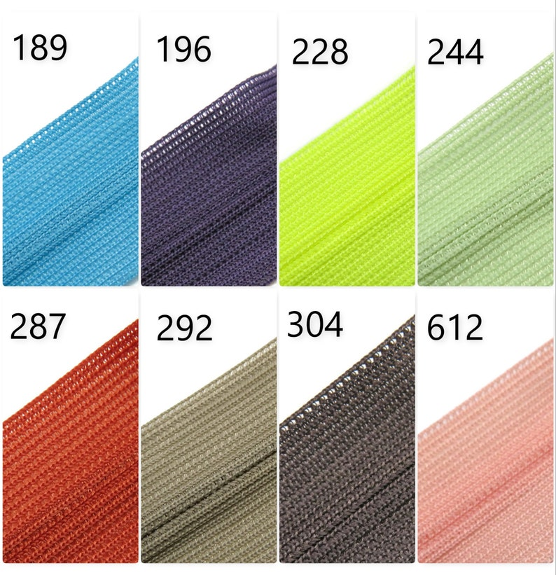 12 zippers for dresses 30cms Invisible Concealed Zips cushions and crafts skirts