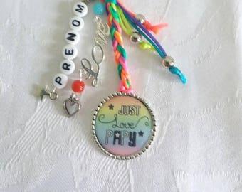 Just Love Grandpa-multicolored - customizable - B25 keychain