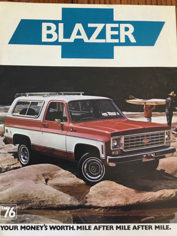 1976 Chevrolet Blazer Original Brochure Etsy 1980 Dodge Truck