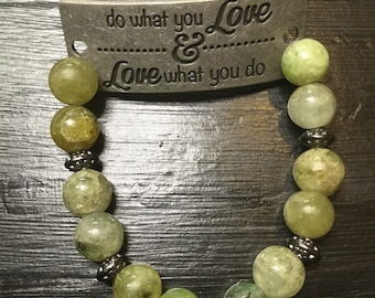 Do what you love and love what you do bracelet
