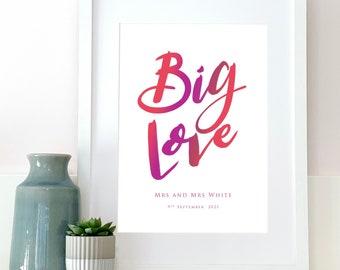 Personalised Wedding Gift, Wedding Present, Wall Art, Home Decor, Vintage Wedding, Wedding Gift, Newly Weds