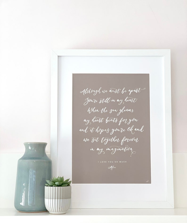 Unique personalised print for home or as an thoughtful gift image 0