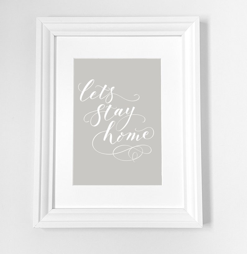 hand-lettering Print for any wall at home handwritten image 0