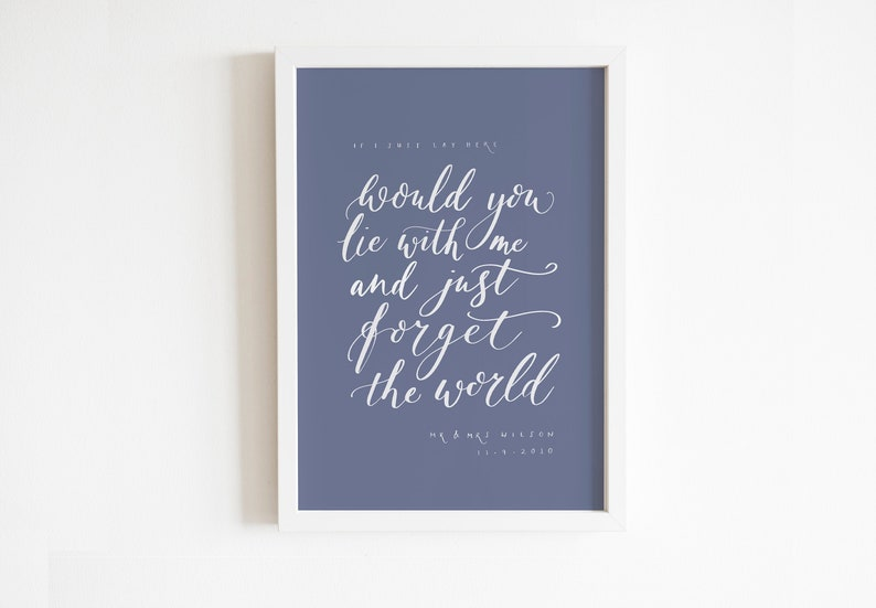 Unique personalised handwritten calligraphy Giclee print have image 0